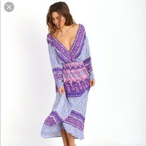 NMT Free People She's A Lady Printed Midi Dress